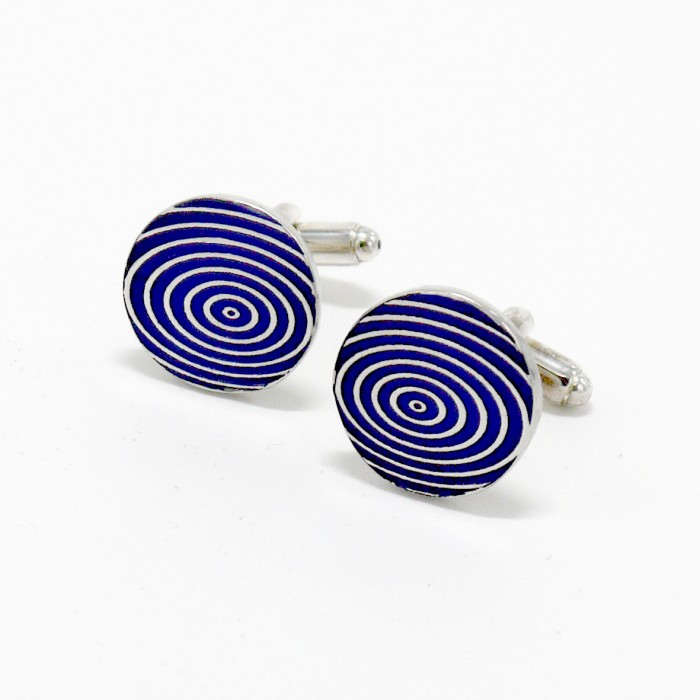 Cirque Blue - Pewter Cufflinks