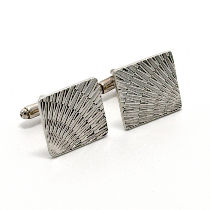 Cosmo V1 - Etched Pewter Cufflinks