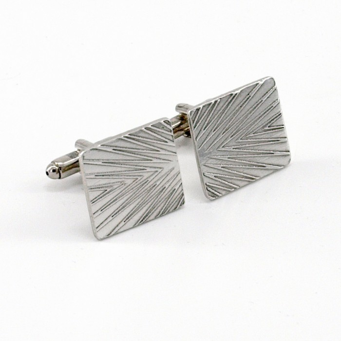 COSMO V2 - Etched Pewter Cufflinks