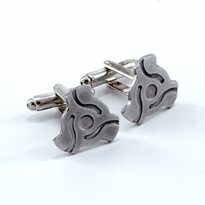 Record Dinks - Etched Pewter Cufflinks