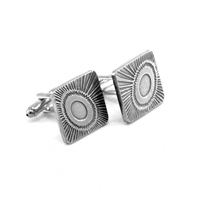 Eclipse - Etched Pewter Cufflinks