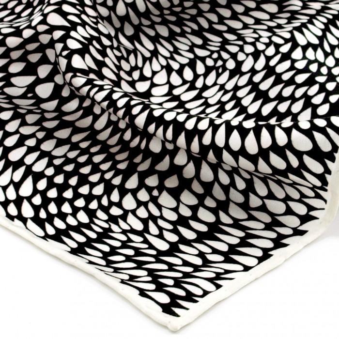 SPIRIAL - Printed Silk Bandana (White Edge)