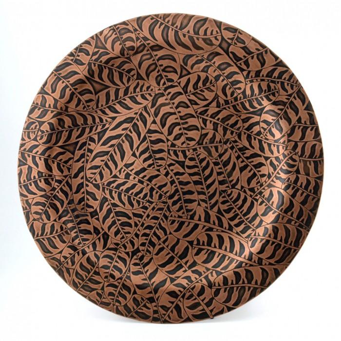 TIGERLEAF - Etched Copper Charger