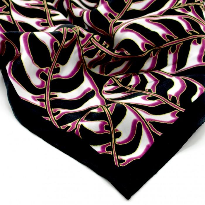 Tigerleaf Magenta Silk Scarf