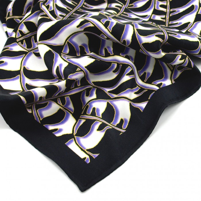 Tigerleaf Purple - Silk Scarf